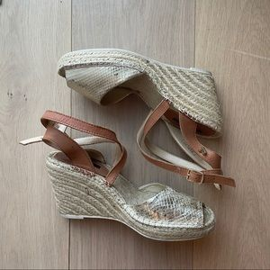 Replay Gold Leather Wedges.